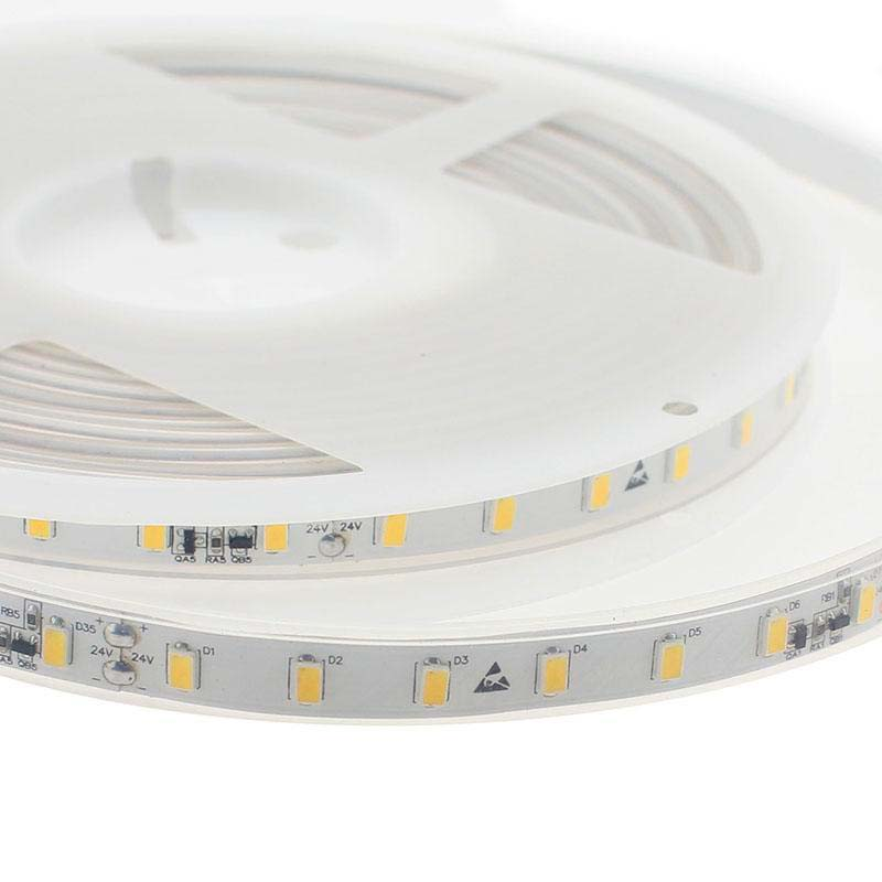Tira LED Monocolor SMD5630, DC24V CC, 5m (70 Led/m) - Sensor Temperatura - IP67, Blanco neutro
